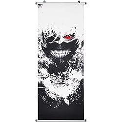 CoolChange Großes Tokyo Ghoul Rollbild / Kakemono aus Stoff Poster, 100x40cm, Motiv: Ken Kaneki