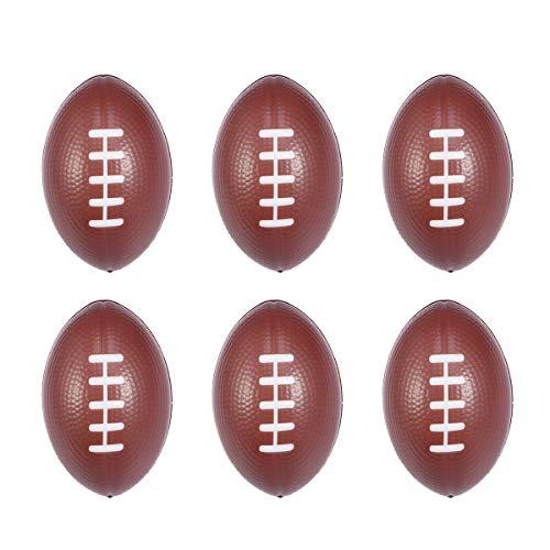 BESTOYARD Fußball Stress Bälle Relax Balls Schaum Super Bowl Toy Balls 6 Stück