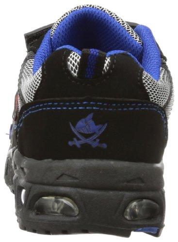 Capt'n Sharky 430555 Jungen Sneakers Schwarz (schwarz/royalblau)