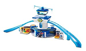 Super Wings- EU710830 World Airport Playset_Control Tower(Large) inclu. Jett & Donnie (Alpha Animation & Toys Ltd YW710830)
