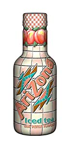 Arizona Iced Tea avec Peach Flavour, thé glacé, PET - 0.5L