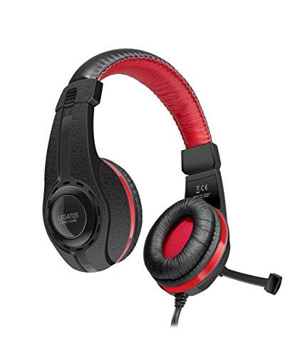 Speedlink LEGATOS Stereo Gaming Headset - Kopfhörer für Gamer mit Stereo Sound für Büro/Home Office (Kabelfernbedienung - einklappbares Mikrofon) mit Klinkenstecker für PC/Notebook/Laptop, schwarz - Schwarze Mikrofon Mit Kopfhörer