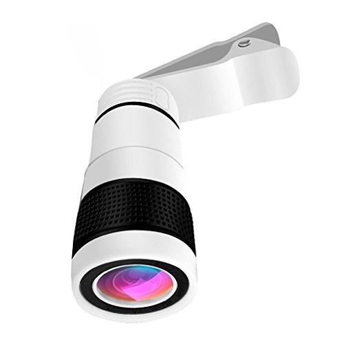 x optischer Zoom Teleskop-Objektiv Lupe Zellen-Handy-Kamera-Objektiv für iPhone Samsung Huawei ()