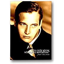 "Negro diseño de oveja famoso/Memorable Quote Paul Newman 40 ""x30"" lienzo, color blanco"