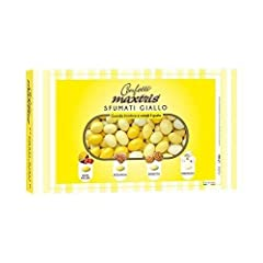 Idea Regalo - MAXTRIS | Confetti Italiani di Mandorla | SFUMATO GIALLO 4 GUSTI | 1 Kg.
