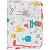 Pirulos 47812220  - Portadocumentos, diseño happy zoo, 25 x 17 x 9 cm, color blanco y gris