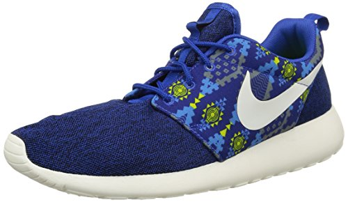 Nike Roshe One Print, Chaussures de Course Homme Game Royal/Sail-Cool Grey-Photo Blue-Volt