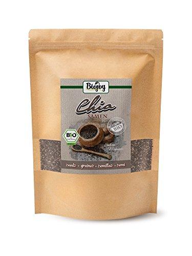 Chia-Samen-BIO | Superfood in Premium-Qualität | glutenfrei & vegan | Chia-seeds reich an Eiweiß, Ballaststoffen & Omega-3-Fettsäuren | Salvia hispanica (1 kg)