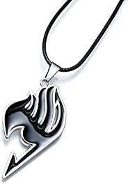 Anime Fairy Tail Pendant Necklace Guild Logo. Black