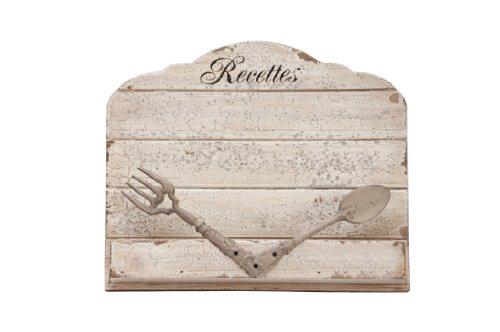Antic line 10411 esschert design support pour livre de cuisine aspect vintage style shabby chic serre-livres en bois