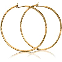 Orecchini a cerchio martellati 14k Orecchini a cerchio grandi d'oro da 2,5 pollici 65 mm Handmade di orecchini