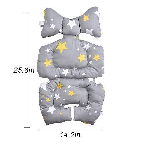 Snewvie Baby Kinderwagen Sitzeinlage Sitzkissen Matte Baumwolle Atmungsaktive Sitzverkleinerer Buggy für Neugeborenen Baby Kinder