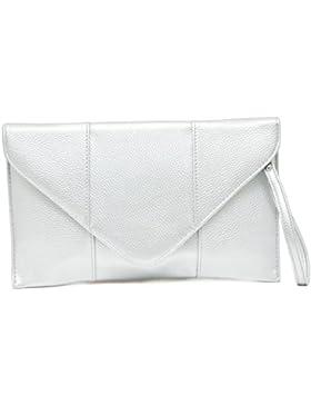 Vain Secrets© Abendtasche Umschlag Clutch mit Schulterriemen in 3 Farben