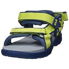 Jack Wolfskin Unisex Kids' Seven Seas 3 K Sports Sandals, Green (Lime/Blue 4171), 11.5 UK