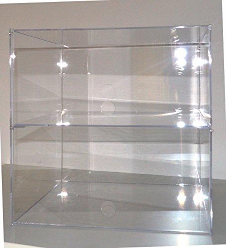 Montemas Waren Ständer/Standregal/Präsenter/Sammler/Tisch Vitrine/Spuckschutz/Bäckerei Verkaufstheke aus Acryl Glas Groß 2 Tier: 35 (B) x 35 (H) x 35 (T) -