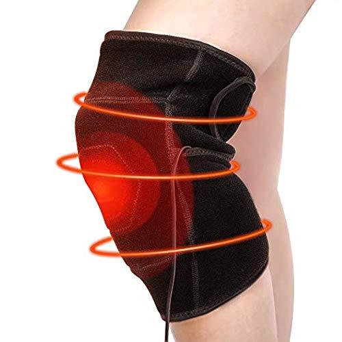 Knieschutz - Wärme Knieschoner warm Kniewärmer Wärmetherapie Bandage Kniebandage Knieorthese USB Infrarot Therapie gegen Gelenkentzündung Knieschmerzen für Damen, Herren, Senioren (Links)