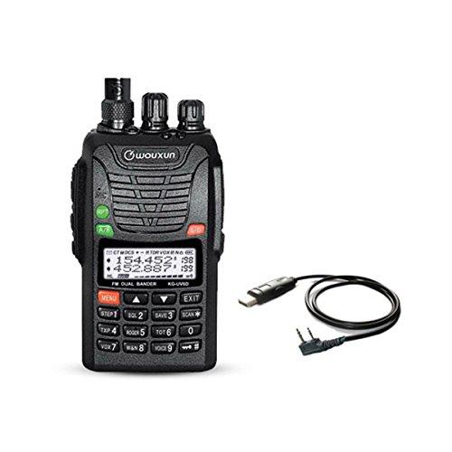 WOUXUN KG-UV6D 4m/2m 66-88/136-174MHz Tragbares BOS Tonruf-I Amateurfunk Dualband PMR-Handfunkgerät Mit USB Programmier-Kabel Datenkabel Cb-funk-codes