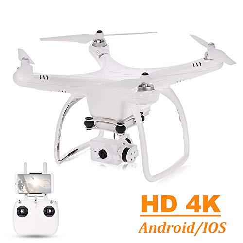 UPair One Plus 4K Drohne mit Kamera, 5.8G FPV Live übertragung RC Quadcopter mit APP Control, 2.4 GHz Fernbedienung, GPS Auto Return Funktion, Folge Mir, Anfänger Quadcopter Drohne -