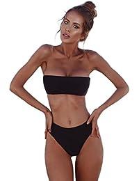 URSING Damen Bandeau Bikini Set Push-Up Brasilianisch Zweiteiliger Badeanzug  Sport Bademode Beachwear Swimsuit Badebekleidung Schwimmanzug 0a8f08e215