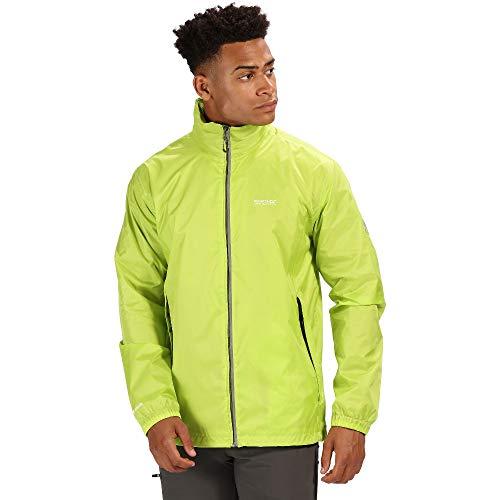 Regatta Herren Lyle IV Waterproof and Breathable Lightweight Reflective Trim Packaway Shell Jacke, Neongrün (Lime Punch), Größe S -