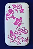 Goldstar� Butterfly, Leopard Pink Flower Silicone Gel Case Cover For Iphone 3, 3gs (White Pink Butterfly)