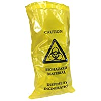 Preisvergleich für 10Stück qualicare Biohazard Klinische Abfälle Dicke Sick Erbrechen Taschen selbst versiegeln 20cm x 35cm
