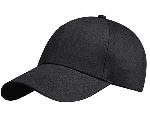 Baumwoll-gewebe-panel (HGDGears Baumwolle Baseball Snapback Kappe Verstellbar Trucker Cap Sport Visier Hut für Herren und Damen (Schwarz))