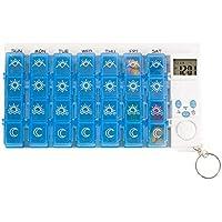 Timer Alarm Medikation Erinnerung Organizer Dispenser, Blau preisvergleich bei billige-tabletten.eu