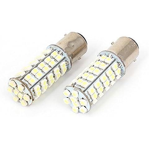 2 PC 68 LED 1157 Socket 3528 Bombillas Luz trasera SMD blanco de la lámpara de freno