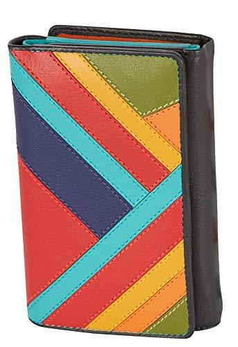 Visconti Trifold Leder Damen Geldbörse Clara Multicolor Purse(CR14):, Multi, Medium -