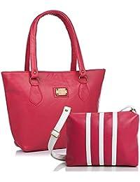 Mammon Women Handbag And Sling Bag Combo (HS-combo-3strip-PW, 40x30x10 CM)