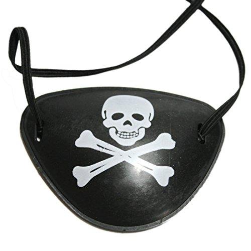 Augenklappe, Lommer 5 Stücke Halloween Kostüme Cosplay Party Eine Augenaugen Maske Maskerade Piraten Karibik Augenklappe - Schwarz