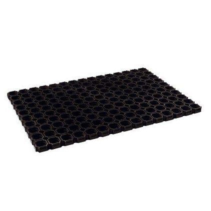 OSE Caillebotis caoutchouc 60 x 80 cm - Noir