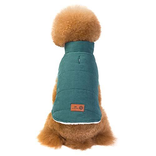 OHQ Hund Warme Kleidung Wasserdichte Haustier Baumwolle Weste Padded Winter Daunenjacke Mäntel Pet Skianzug Im Freien für Kleinen Hund