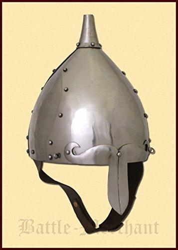 SLAWISCHER frühmittelalterlicher Casque, taille M en 2 mm acier - schaukampftauglich - Les Slaves - Viking - Casque