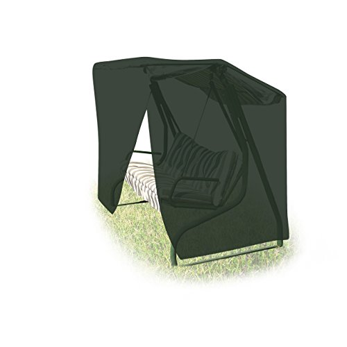Relaxdays Schutzhülle Hollywoodschaukel H x B x T: 150 x 215 x 150 cm, wetterfest, Abdeckung mit Reißverschluss, grün