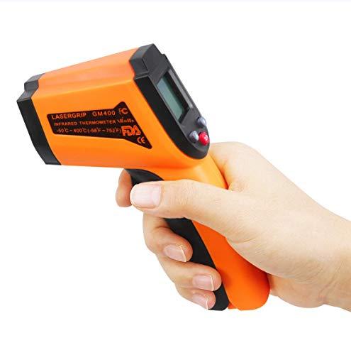 Haolv Termómetro infrarrojo sin Contacto láser Digital Pistola de Temperatura con Pantalla LCD, 50...