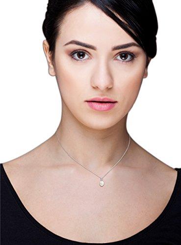 Miore Damen Halskette 9 Karat (375) weißgold rhodiniert Zirkonia - 5