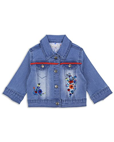 The Essential One - Baby Kids Girls Denim Jacket - Blinky Bunny - 12-18 Months - Blue - EOT269