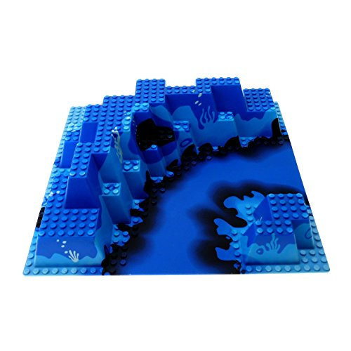 1 x Lego System 3D Bau Platte blau Berg Wasser 32 x 32 Noppen 3 D Ocean Meer Unterwasser Aquazone Aquanauts 6024px1