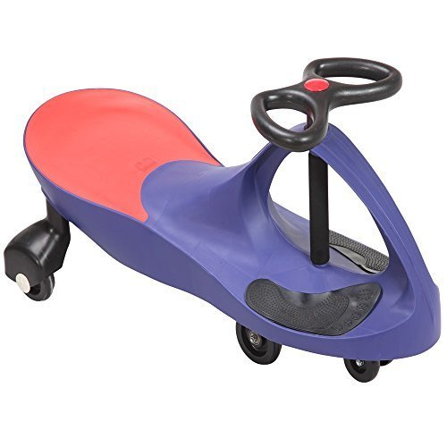 Image of SWING CAR RIDE ON SWIVEL SCOOTER CHILDRENS TOY KIDS WIGGLE GYRO TWIST & GO XMAS GIFT (Blue)