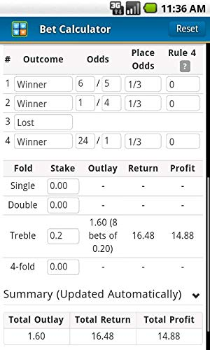 double chance betting calculator round robin