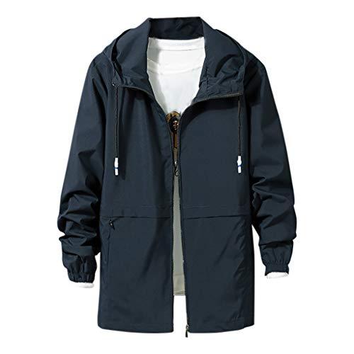 Herren Jacke, sunnymi Fashion Casual Cap Jacke Mode große komfortable Jacke Mantel -