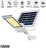 BD.Y 100W Solar-LED-Straßenlaterne - Sicherheits-Solarbeleuchtung mit hoher Helligkeit, wasserdichter technischer Lampe und Fernbedienung IP65 für Terrasse, Straßenbeleuchtung