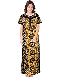 be4e83e1cfb Khushi Print Womens Cotton Fabric Floral Print Nighty Night Gown Nightwear  Nightdress (