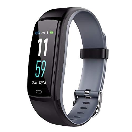 LRWEY Fitness Armband mit Pulsmesser, IP67 Wasserdichtes OTA Fitness Tracker Pulsuhr Smart Watch Armband, für iOS Android Handy