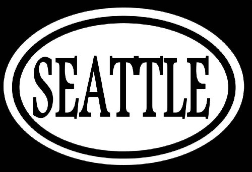 "Price comparison product image SEATTLE 6"" STICKER DECAL WASHINGTON SUPERSONICS RAINY SLEEPLESS IN SEATTLE LOVE *C576* Decal Vinyl Sticker For Cars,  Trucks,  Laptops,  Fridge And More"