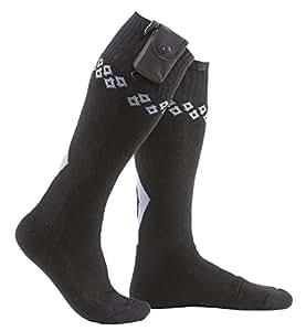 Chaussettes Chauffantes à Piles Noires Springyard - Petit