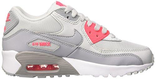 Nike Unisex-Kinder Air Max 90 Mesh Gs Turnschuhe Mehrfarbig (Pure Platinum Grey Racer Pink White)