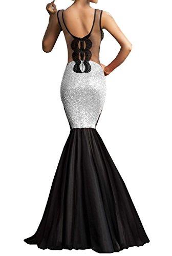 E-Girl SY60633 femme sexy Robe de soirée Blanc